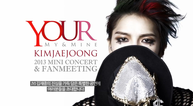 "JYJ's Jaejoong Reveals ""Your, My and Mine"" Concert Teaser"