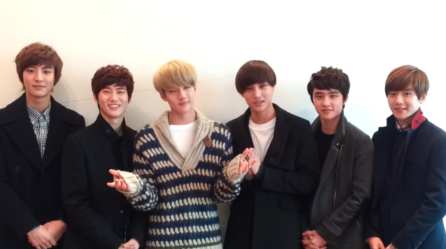 EXO-K Gives a Special 2013 New Year's Greeting