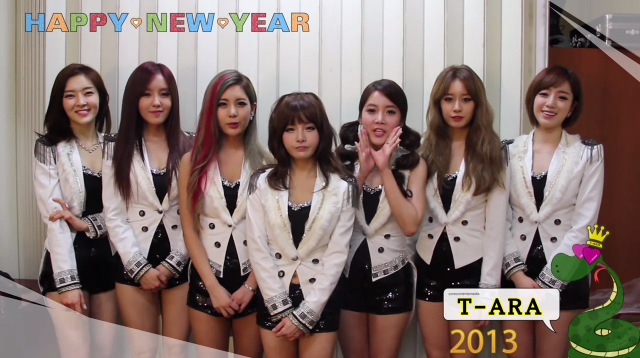 T-ara Presents Their 2013 New Year's Greeting