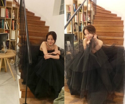 Han Ji Min Looks Stunning in an Evening Gown for SBS Acting Awards