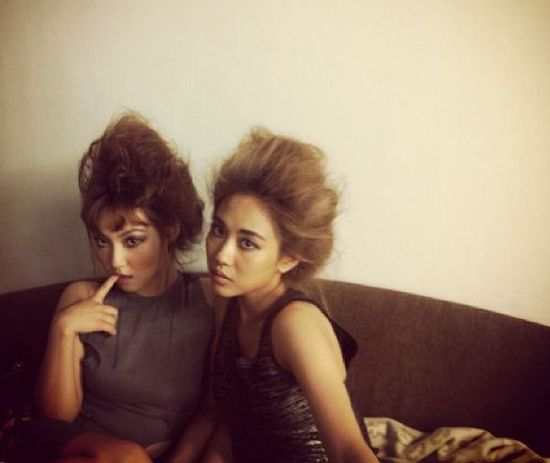 miss A's Min and Fei in Avant-Garde Hairstyles