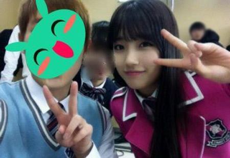 miss A's Suzy Wears A Pink School Uniform For Endorsement