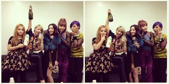 2NE1 Celebrates New Year With Champagne While Lee Hi Celebrates with Milk