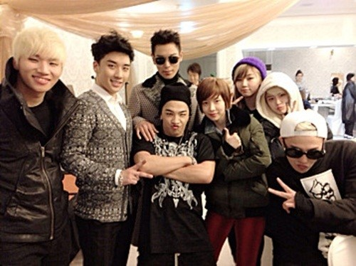 Big Bang Poses With D-Unit After Their Concert