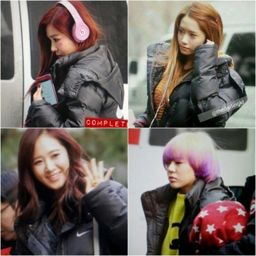 Pictures of Girls' Generation on Their Way to Work Are Revealed