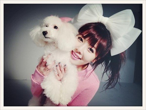HyunA Shares an Adorable Photo With a Puppy