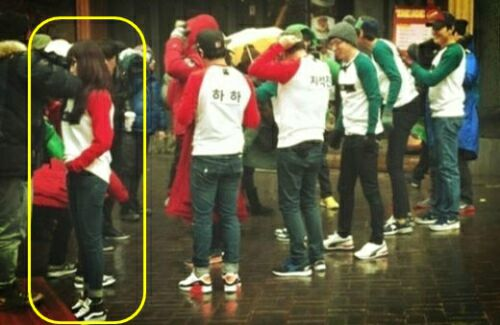 """4mintue's HyunA Spotted Filming """"Running Man"""""""