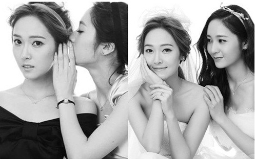 Jessica and Krystal Together for a Wedding Photoshoot