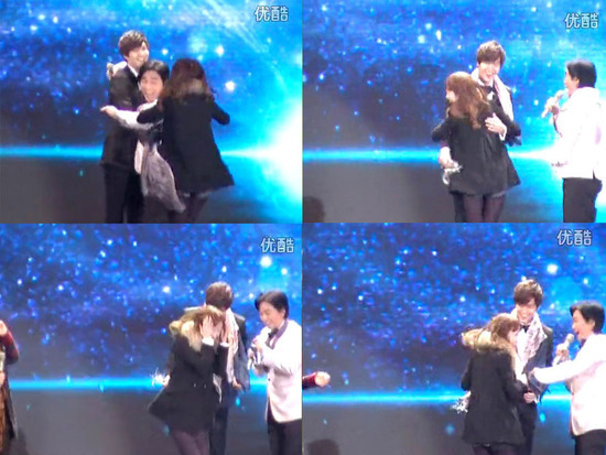 "Lee Min Ho Acts Kind to a Hysteric Fan at ""12th China Fashion Awards"""