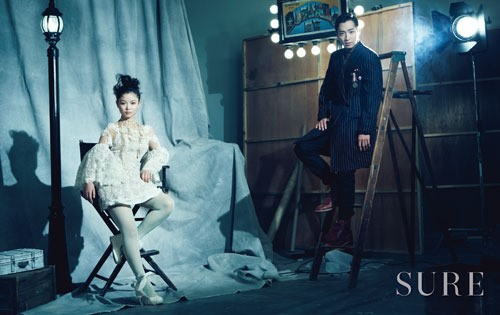"Lee Sang Yeob and Kim Yoo Jung Transform into Retro Couple for ""SURE"" Magazine"