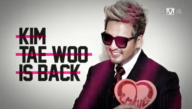 "Kim Tae Woo Makes His Comeback Performance on M!Countdown with ""Cosmic Girl"""
