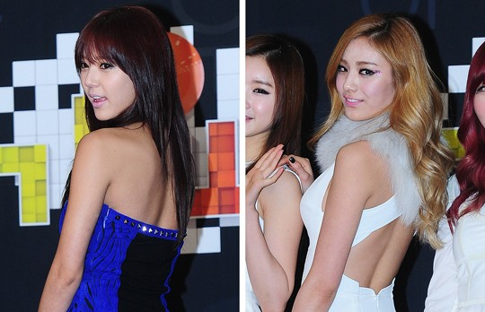 Son Dam Bi Squeezes After School's Nana in a Tight Hug from Behind