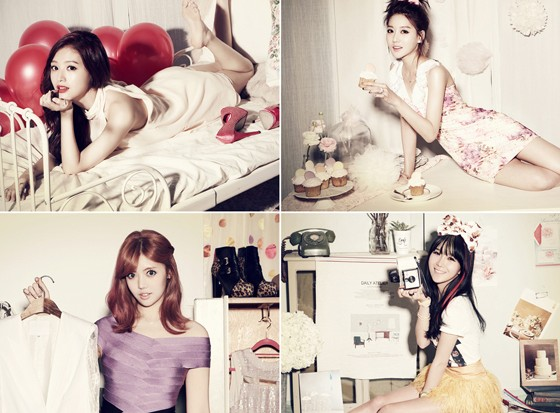 First Round of Teaser Images for Rainbow's Come Back Released with Sweet Party Girl Concept