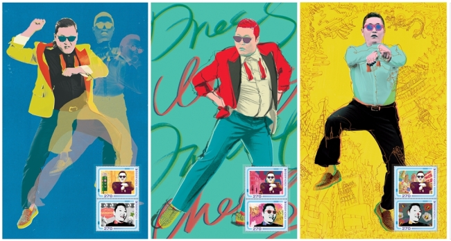 PSY's Postal Stamps to Be Released on February 18!
