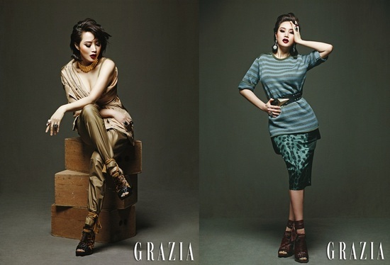 "Kim Hye Soo in an 80s Look for ""Grazia"""