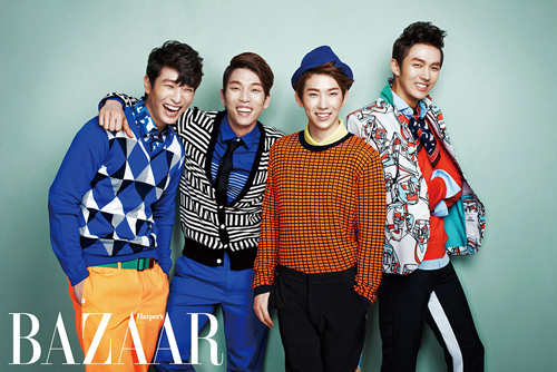 "2AM Looking Trendy For ""Bazaar"" Photo Shoot"