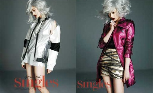 "After School's Nana Goes Silver for ""Singles"""