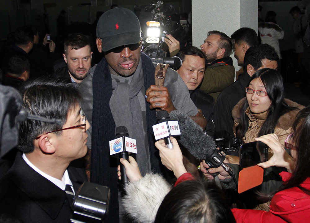 Dennis Rodman Looks for PSY in North Korea?
