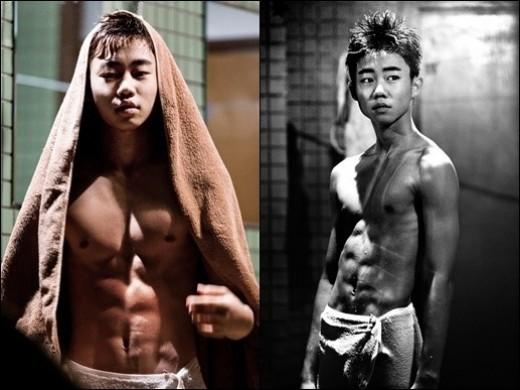 Child Actor Park Ji Bin Has An 8 Pack?