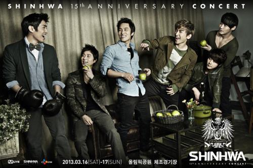 "Shinhwa Announces Their Comeback ""2013 SHINHWA 15th Anniversary Concert"""