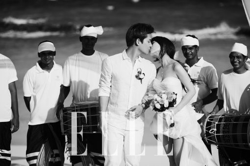 Wonder Girls' Sunye Locks Lips with Husband for Elle