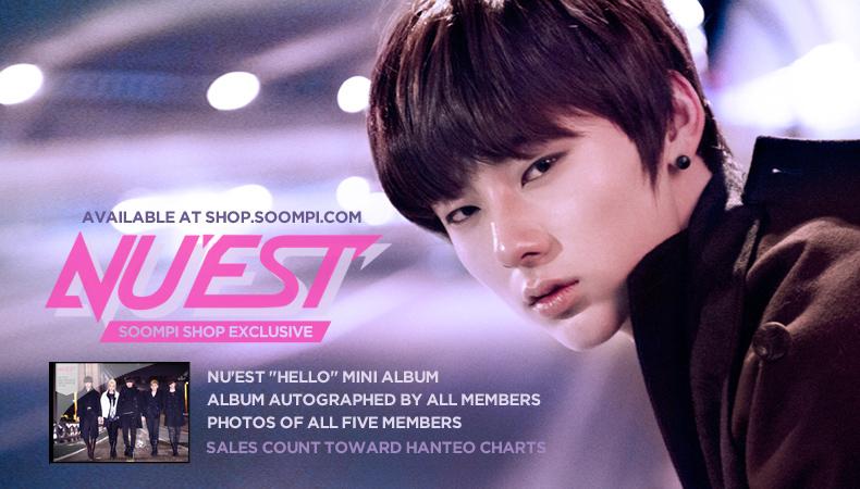 "[Soompi Shop] Autographed NU'EST ""Hello"" Special Package!"