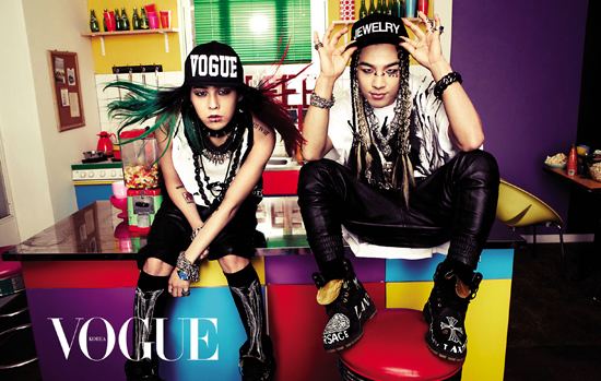 """G-Dragon and Taeyang Are Quirky and Colorful for """"Vogue Korea"""""""