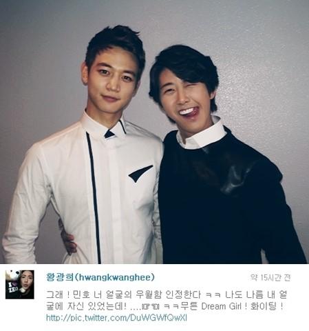 ZE:A's Kwanghee Shares a Friendly Photo of Himself with SHINee's Minho