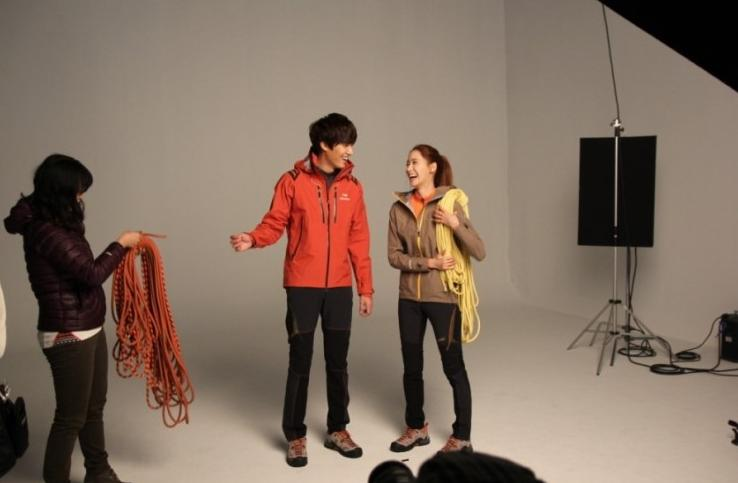 Lee Min Ho and Yoona Reunite for Outdoor Gear Photo Shoot