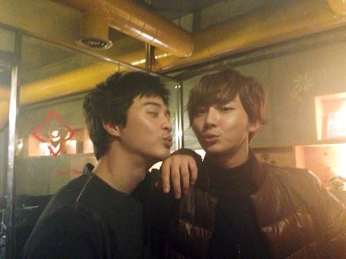 Yoon Shi Yoon and Kim Ji Hoon's Bromance Grows as They Pucker Up Once Again