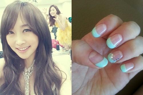 Kara's Nicole Shows Off Her New Bling Bling Nail Art