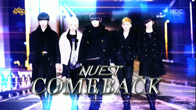"""NU'EST Performs """"Hello"""" for Music Core Comeback Stage"""