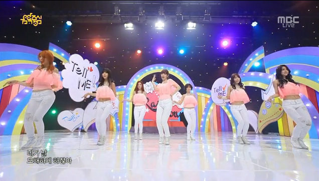 """Rainbow Performs Music Core Comeback with """"Tell Me Tell Me"""""""