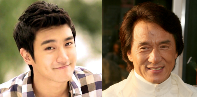 "Jackie Chan and Choi Siwon Pose Together after ""Running Man"" Filming"