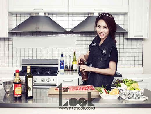 "miss A's Fei As a Master Chef for ""1st Look"""