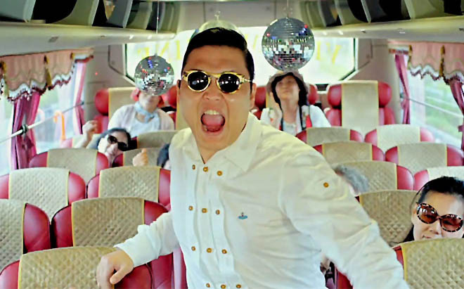 PSY Wears a Wedding Dress for Concert Posters