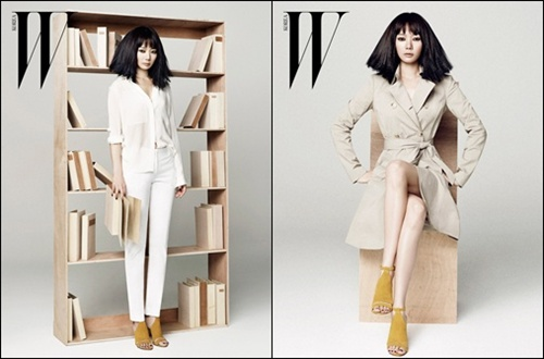 "Bae Doo Na Looks Chic on the Pictorial for ""W Korea"""