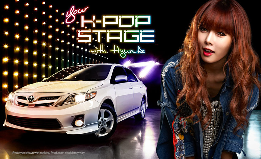 Be HyunA's Friend in Her New Toyota Corolla CF
