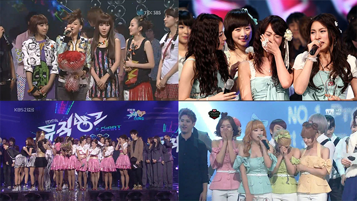 [Video] First Music Show Wins Part 1: Girl Groups