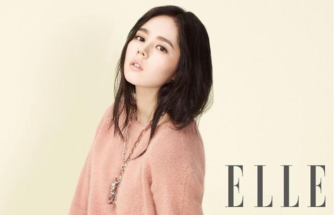 """Actress Han Ga In Looks Sexy Yet Innocent in """"Elle"""" Pictorial"""