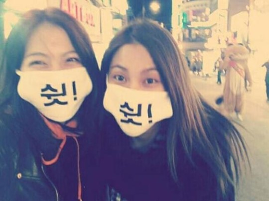 KARA's Kang Jiyoung and Gyuri Go on a Date in Masks