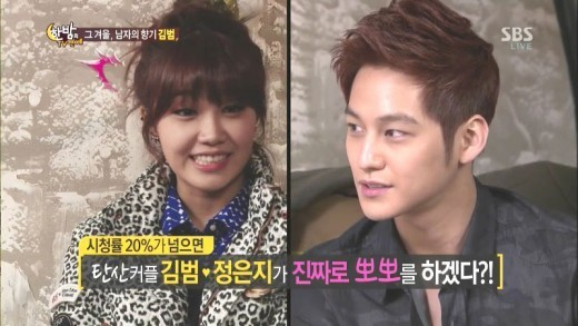 Kim Bum Promises to Kiss Jung Eun Ji for Real If They Achieve Drama Ratings Over 20%