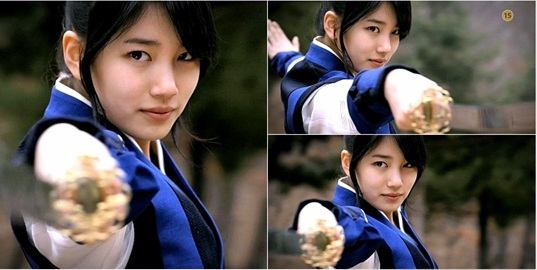 Suzy Looks Cooler than Most Men with a Sword!