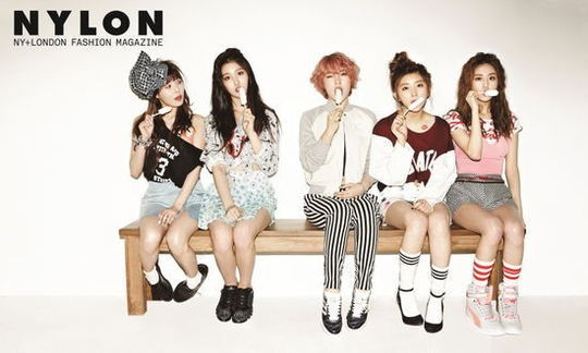 4minute Reveals Cute Cotton Candy Photoshoot for Nylon