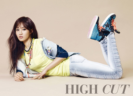 "Girls' Generation Yuri Looks Like a Spring Goddess for ""High Cut"""