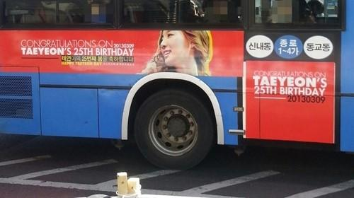 Fans Place Special Message on a Bus for Taeyeon's Upcoming Birthday