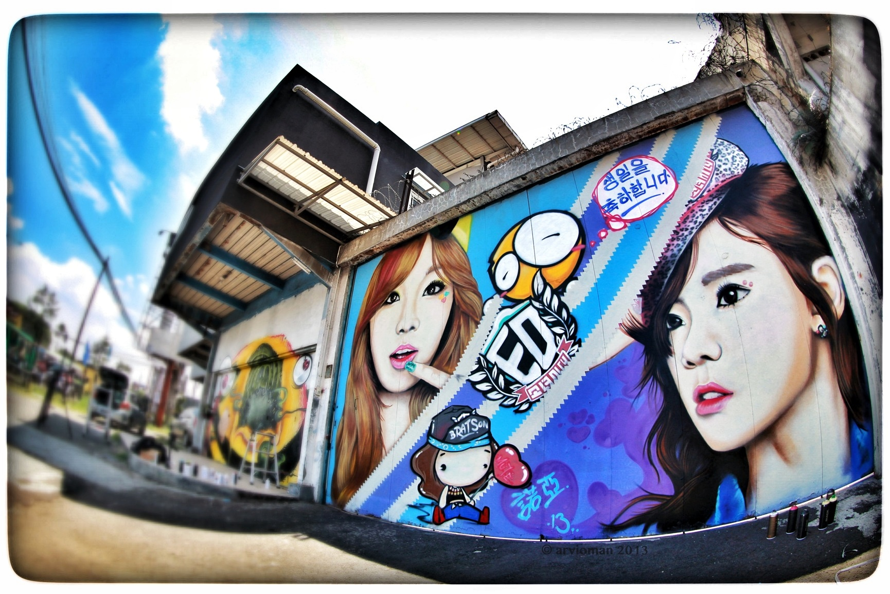 Indonesian Fan Creates a Giant Street Art Display for Taeyeon's Birthday