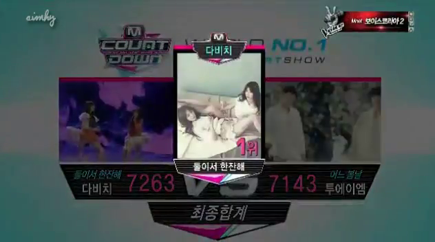 Mnet M! Countdown 03.28.13 – Davichi's First Win!