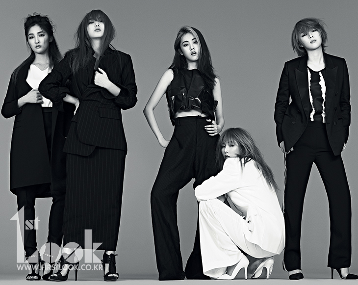 4minute Is Mannish But Sexy for 1st Look Photo Shoot