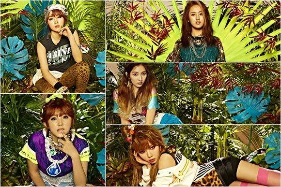 4minute are Queens of the Jungle in New Album Photos